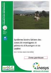 Syst mes bovins laitiers des zones de montagnes et pi monts d 39 auvergne et de loz re chambre - Chambre d agriculture lozere ...